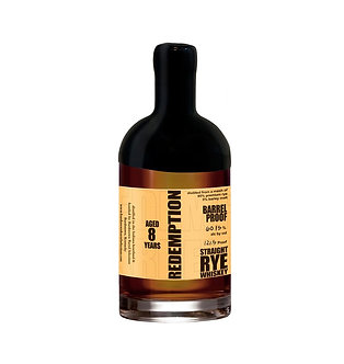 Redemption 8 Year Old Barrel Proof Rye Whiskey