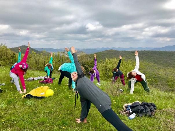 Йога в горах Адыгеи