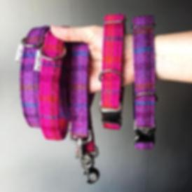 Harris Tweed dog collars