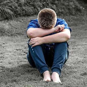 depressed boy crying sadness mental heal