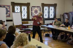 Ted Barris Teaching Saskatchewan Festival of Words writing workshop