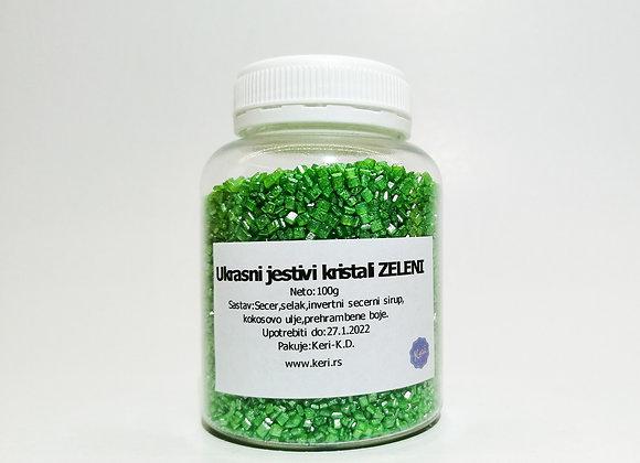Jestivi ukrasni kristali - ZELENI 100g
