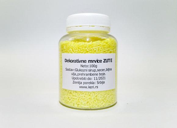 Dekorativne mrvice ZUTE 100g