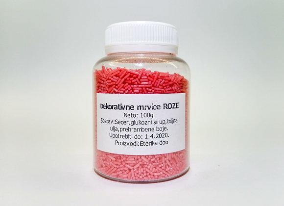 Dekorativne mrvice ROZE 100g