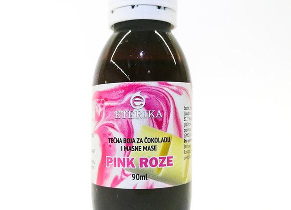 Pink roze tečna boja za čokoladu 90ml