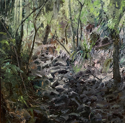 FOREST ROCKFALL  56cmX56cm