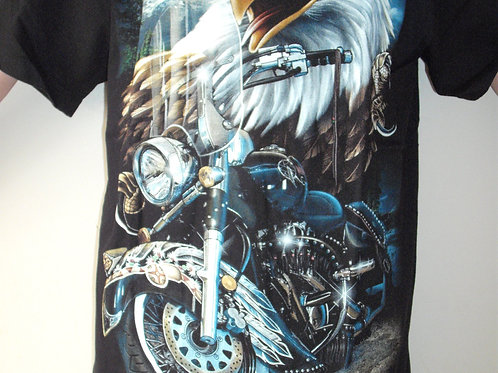 Eagle Biker Glow in the Dark T'Shirt