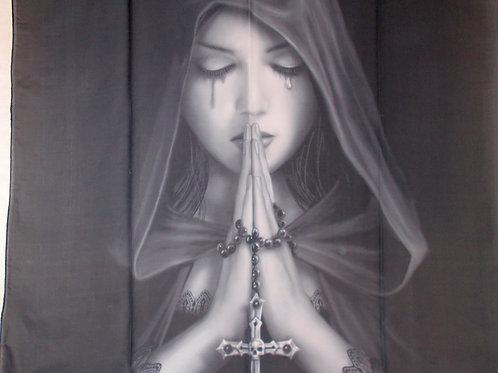 """Gothic Prayer"" Silky Scarf"