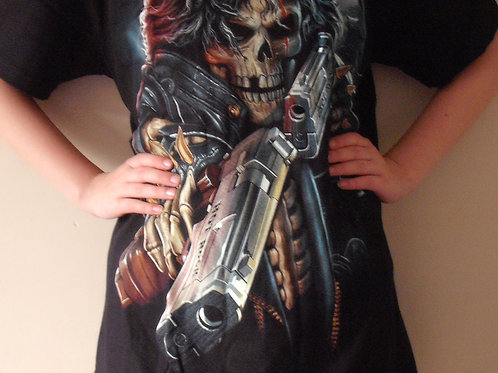 Reaper with Gun Glow in the Dark T'Shirt