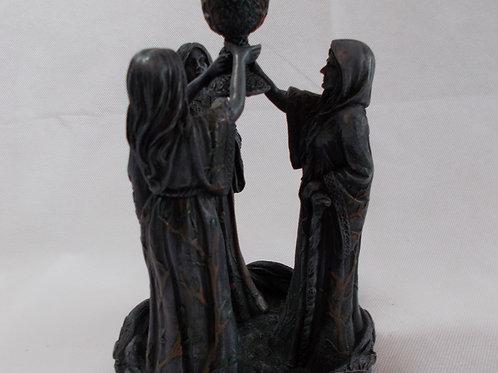 Mother, Maiden, Crone Backflow Incense Burner