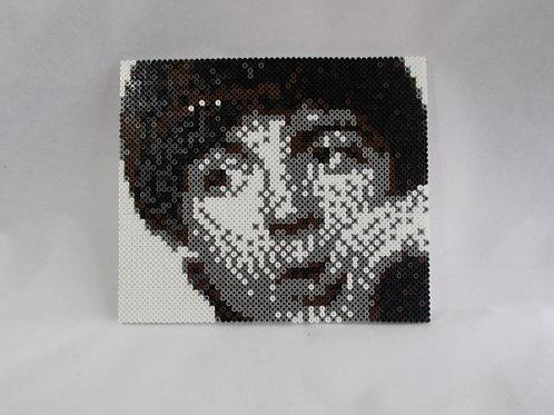 Paul McCartney Hama Bead portrait