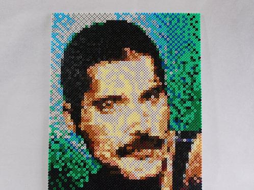 Freddie Mercury Hama Bead portrait