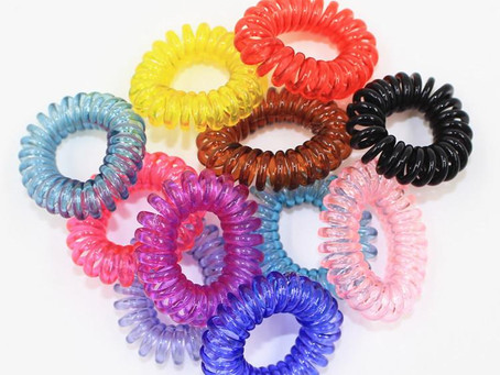 Rubber Hair Ties - it really works!!!