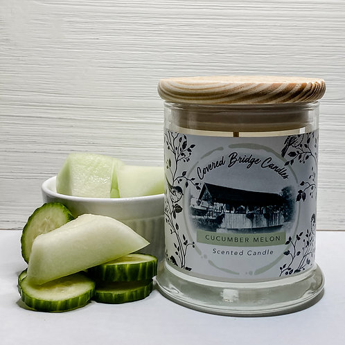 CUCUMBER MELON Soy Wax Candle 8 oz