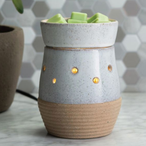 RUSTIC WHITE WAX MELTER Countertop