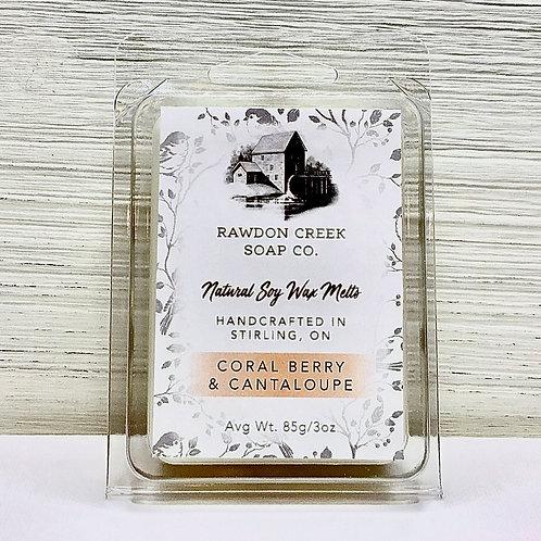 CORAL BERRY & CANTALOUPE Wax Melt 3oz