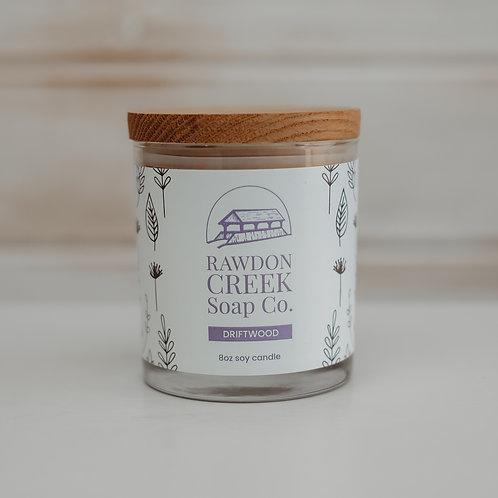 DRIFTWOOD Soy Wax Candle 8 oz