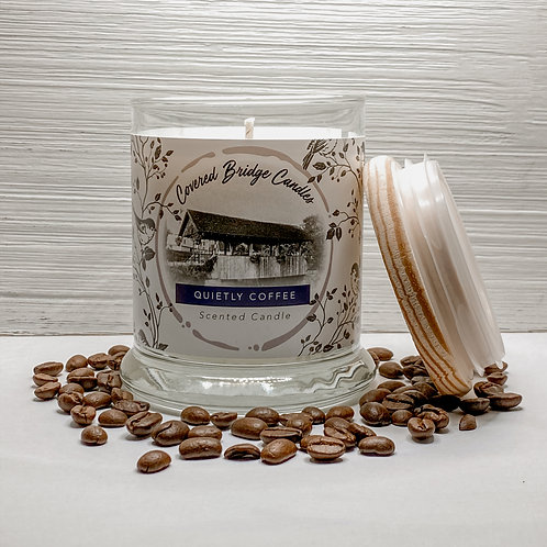QUIETLY COFFEE Soy Wax Candle 8 oz