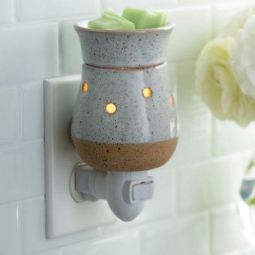RUSTIC WHITE WAX MELTER Outlet Type