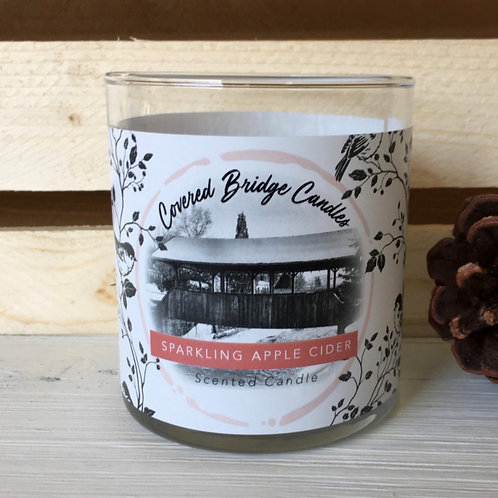 SPARKLING APPLE CIDER Soy Wax Candle 8 oz