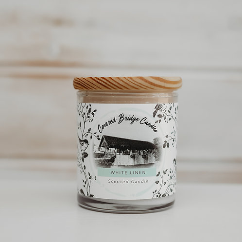 WHITE LINEN Soy Wax Candle 8 oz