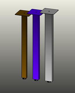 Table legs, post legs, furniture legs. rectangular tube post legs