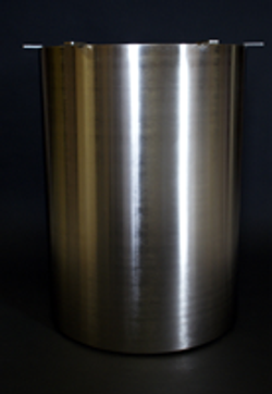 Brushed chrome drum base