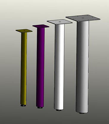 Table legs, post legs, furniture legs. oval tube post legs