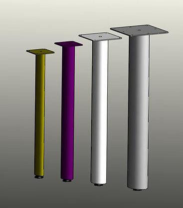 Table legs, post legs, furniture legs. oval tube post legs