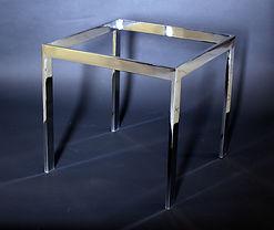 Flat bar stock rectangular table base frame
