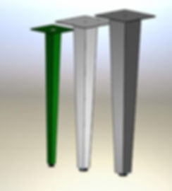 Table legs, post legs, furniture legs. square tapered post legs