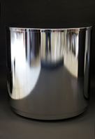 Glass top cylinder base