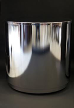 Glass top cylinder base