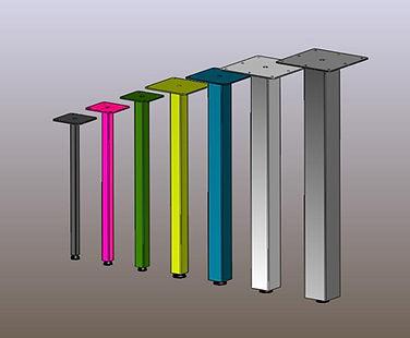 Table legs, post legs, furniture legs. square tube post legs
