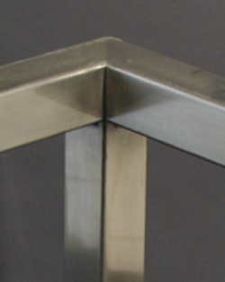Parsons table frame for glass top