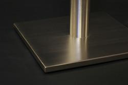 Square formed metal flat pan base