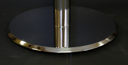 Bevel edge spun metal disk base