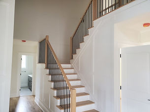 Staircase beautifully designed by home remodelers in Mountain Lakes, NJ
