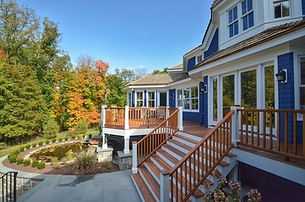 Another shot of blue home by home builders in Mountain Lakes, NJ