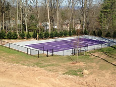 Sports courts chain link fence installation Franklin Lakes NJ