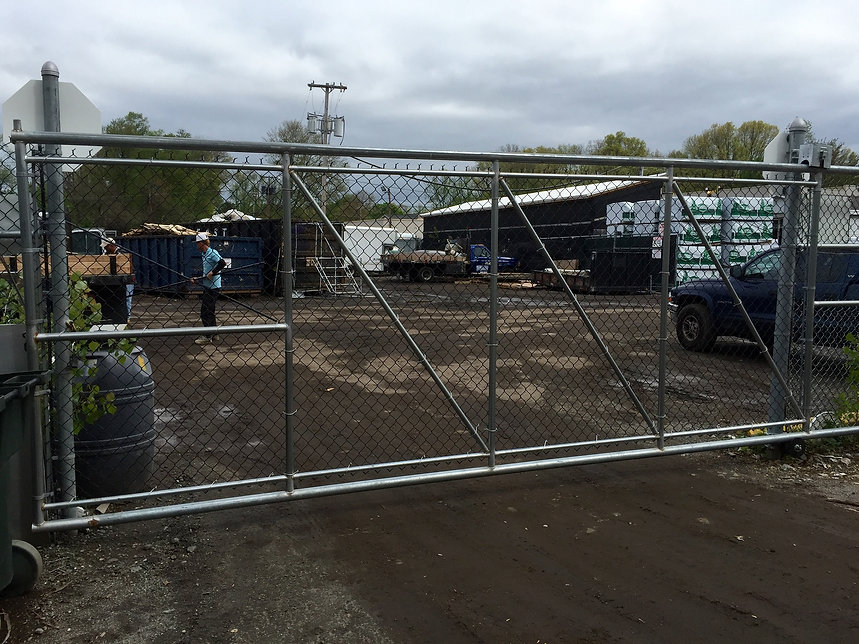 Chain link fence in Mendham NJ for warehouse