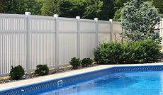 White vinyl fence installation in Mountain Lakes, NJ