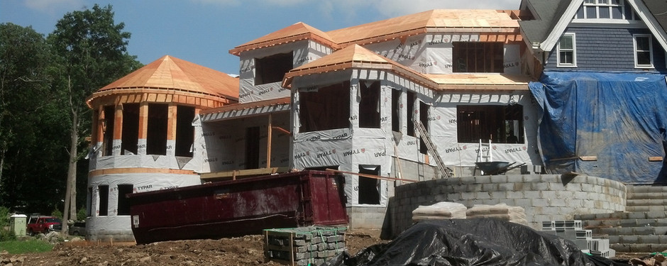Another under construction picture by home remodelers in Mountain Lakes, NJ