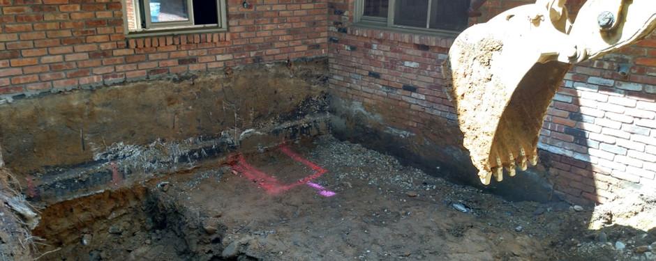 Under construction floor by custom home builders in Kinnelon, NJ