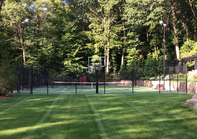 Basketball court with chain link fence in Orage County, NY