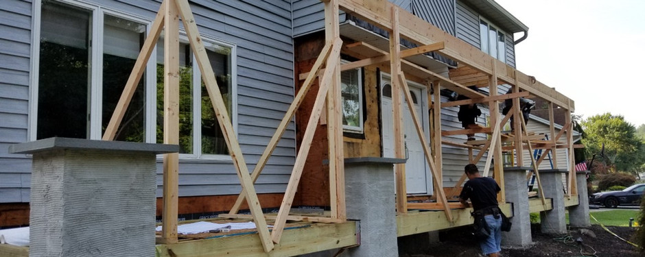 House under construction by home builders in North Caldwell, NJ