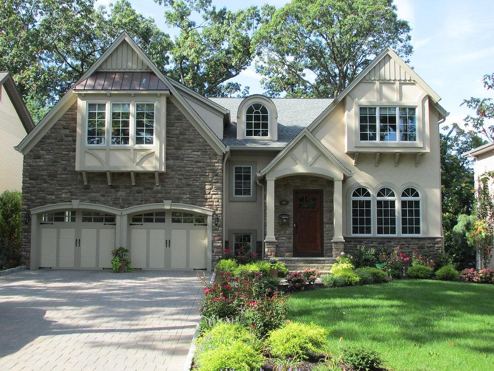 Beautiful entrance done by custom home builders in Ridgewood, NJ