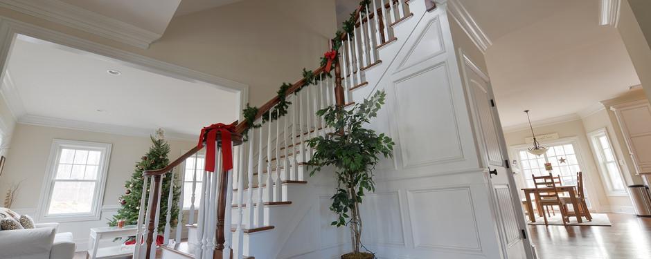 Staircase by home builders in Ridgewood, NJ