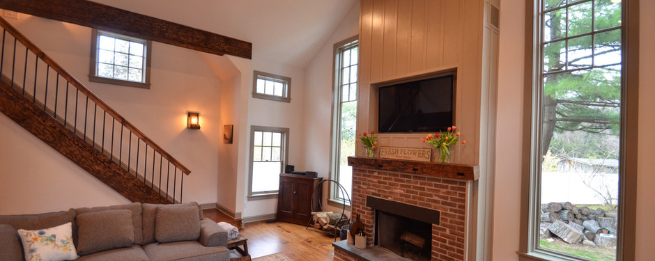 Living room done by home builders in Upper Saddle River, NJ