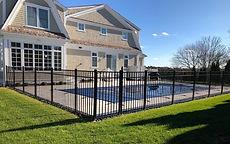 Aluminum fence installation in Mendham, NJ